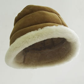 Fashion Ladies Merino Shearling Sheepskin Lamb fur bucket hat